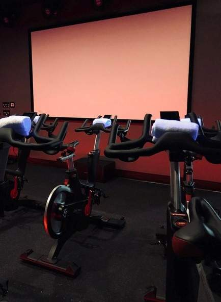 Club Cycle features ICG7 bikes and a 133-inch screen. Photo by Jennifer Lanman