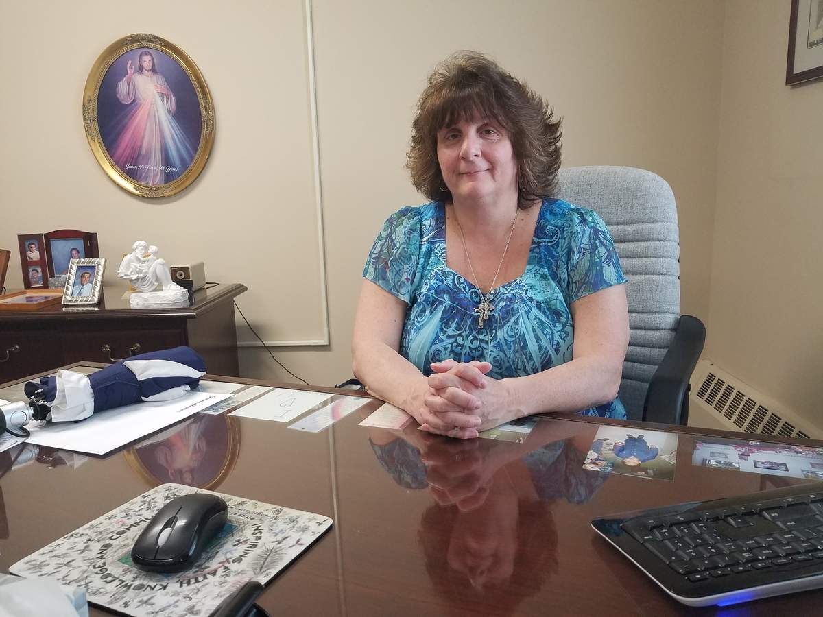 Carol Silva has been working in religious education for nearly 25 years. As the director for the newly combined Parish of St. Pio of Pietrelcina, she's trying to do things differently. Photo by Nathan Hughart/The Courier