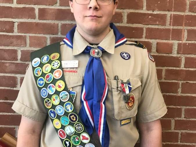 Kenneth Peterson is Chester/Deep River Boy Scout Troop 13's newest eagle scout.  Photo by Michael Rutty
