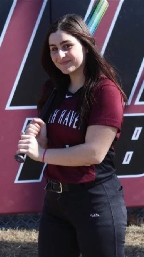 Recent graduate Gigi Russo controlled the game from behind the plate for the North Haven softball team the last three years. Next year, Gigi will play for Assumption College in Massachusetts. Photo courtesy of Gigi Russo