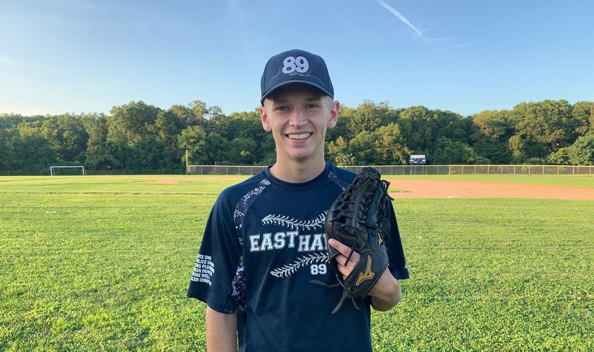 Mark Smith is looking forward to playing baseball at the Division I level at Sacred Heart University. Mark was an outfielder for the East Haven Senior American Legion team during the recent summer season. Photo courtesy of Mark Smith