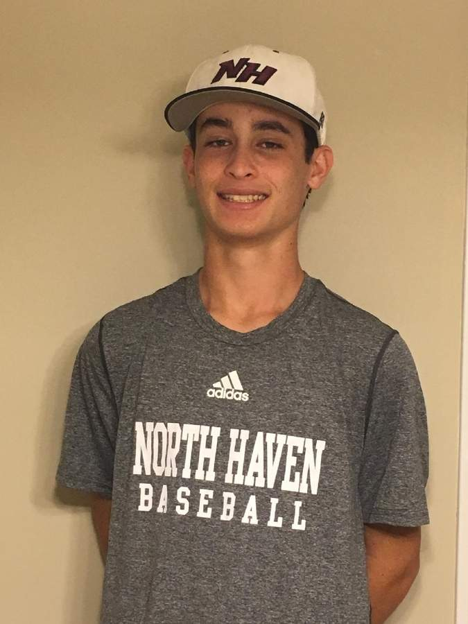 Alex Bauman was named the MVP for the North Haven Junior Legion baseball team squad and also took home the team's Pitcher of the Year Award. Photo by John Ruggiero
