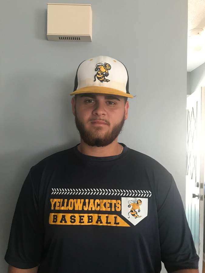 On the heels of a great baseball career in East Haven, Steve Mingione is gearing up to play for American International College in Springfield, Massachusetts. Photo courtesy of Steve Mingione
