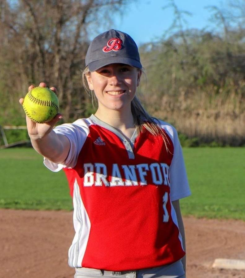 Jess Shanley led the Branford softball team as a captain during both her junior and senior campaigns. Jess also played first base and batted leadoff for the Hornets. Photo courtesy of Jess Shanley