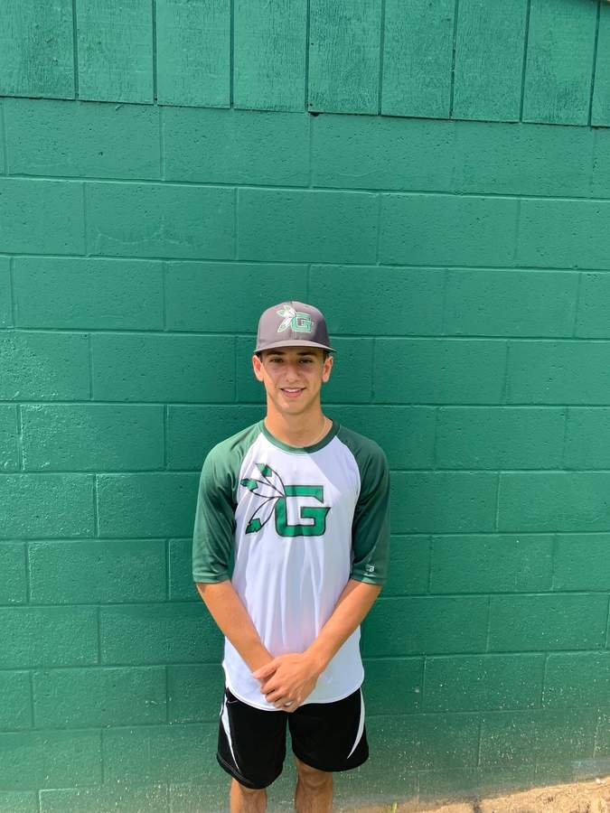Jake Ciocca had an All-Division sophomore season for the Guilford High School baseball team this spring and then made his mark out of the leadoff spot for the town's AAU club during the summer. Photo by Nick Greene/The Courier