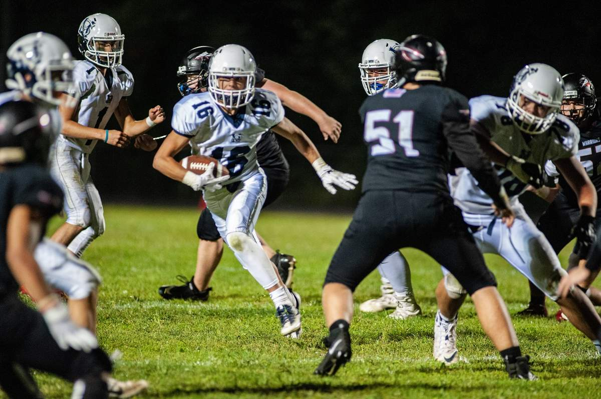 Football Valley Regional- Old Lyme Football vs Morgan at VRHS September 13th, 2019. Valley won the match-up 23-6.  16- Tim Lichack  Photo by Susan Lambert