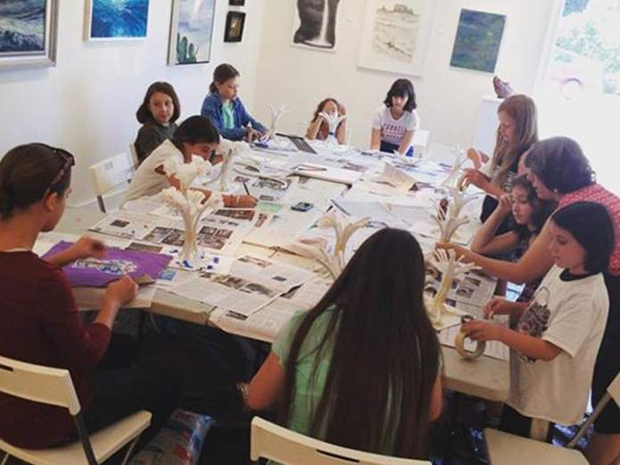 Childrens art classes at Spectrum Gallery.