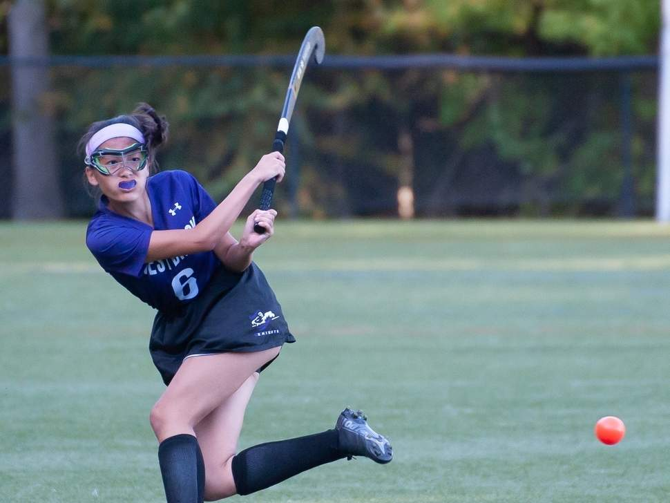 Megan Greaves and the Westbrook field hockey team earned a pair of victories last week to move to 10-1-1 on the season. File photo by Kelley Fryer/Harbor News