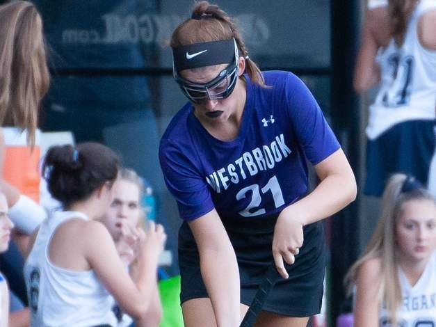 Lexi Koplas and the Westbrook field hockey team scored the first two goals that North Branford allowed all season while playing the Thunderbirds to a 2-2 tie on Oct. 23.  File photo by Kelley Fryer/Harbor News