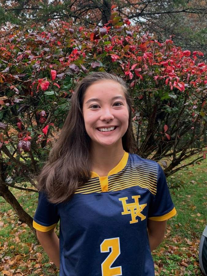 Sophomore forward Yumi Imai has scored 13 goals for the H-K girls' soccer team this fall, while helping the Cougars reverse their fortunes from the 2018 campaign. Photo courtesy of Yumi Imai