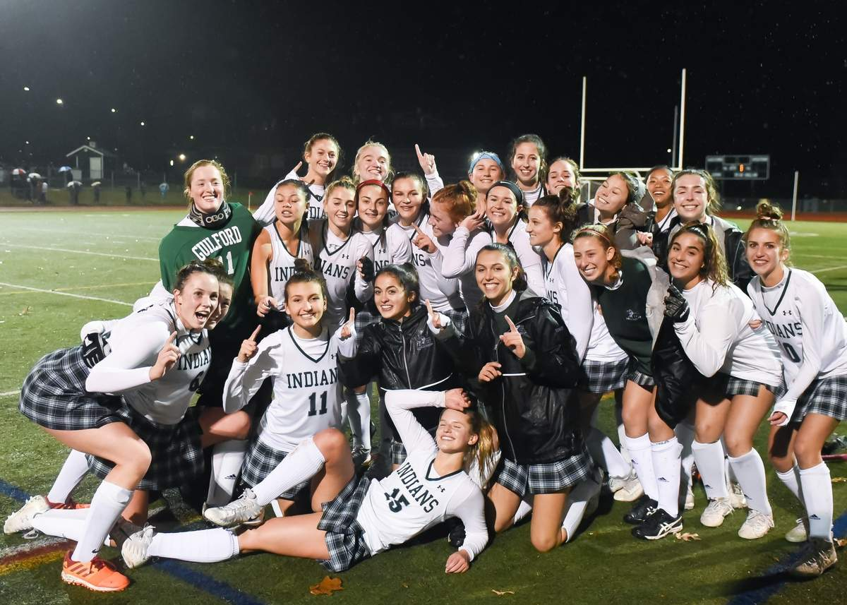 Guilford field hockey beat Amity 1-0 to win the SCC Championship at home. Photo by Kelley Fryer/The Courier