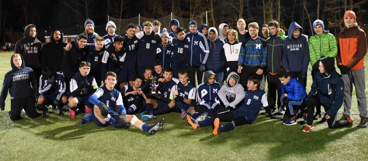 Old Saybrook and Morgan boys soccer shared the title of Shoreline Conference Champions after finishing with a 2-2 tie in overtime at the Indian River Complex in Clinton.  Photo by Kelley Fryer/Harbor News
