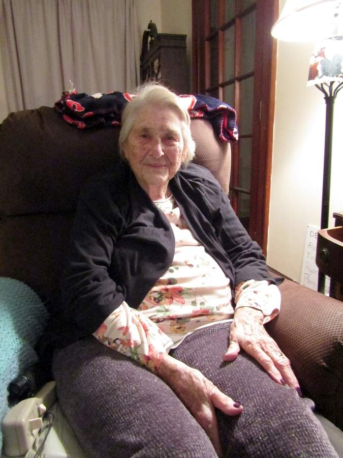 "Elizabeth ""Betty"" Hauser has a century of memories to share about the East Haven community. Photo by Elizabeth Reinhart/The Courier"