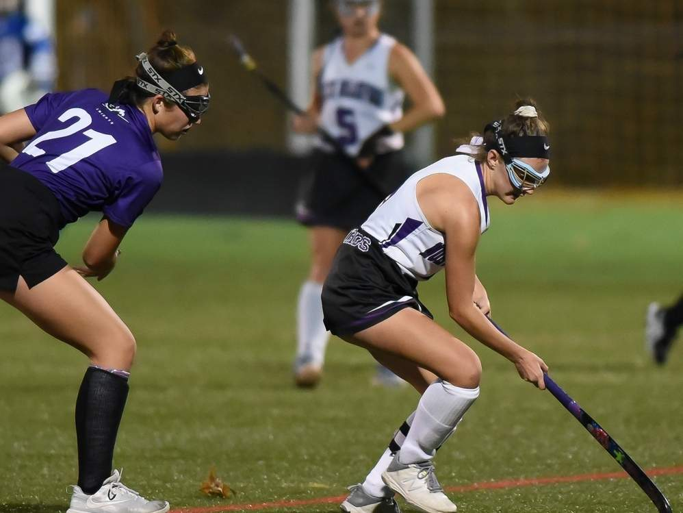 Ava Galdenzi and the North Branford field hockey squad advanced to the semifinals of the Class S State Tournament by defeating Wamogo and Canton in their first two games of the bracket. File photo by Kelley Fryer/The Sound