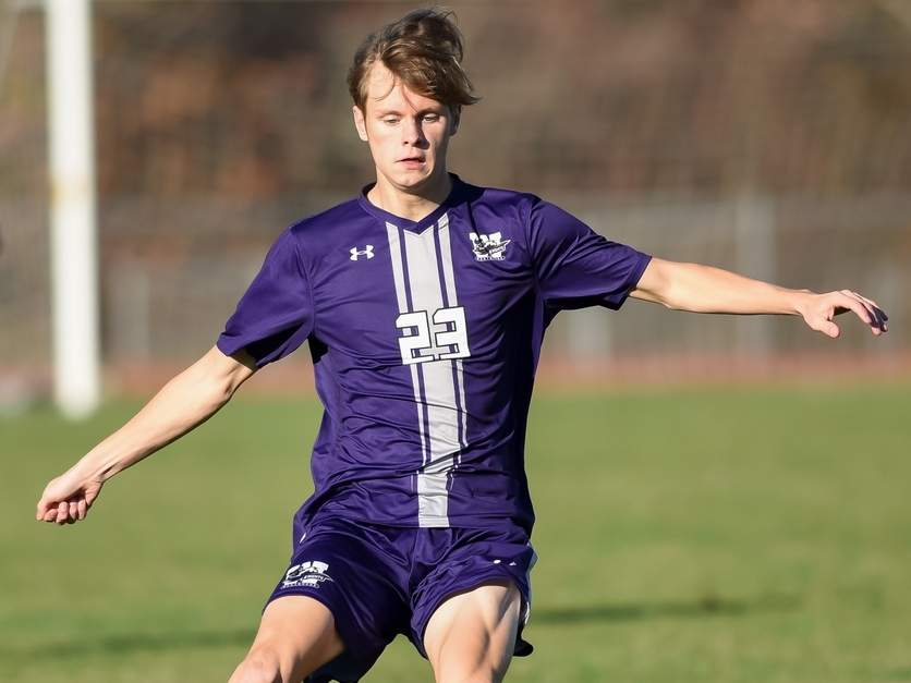 Junior Luca Troop and the Westbrook boys' soccer team took a 4-1 loss versus Old Saybrook in the Class S State Tournament first round on Nov. 11.  File photo by Kelley Fryer/Harbor News