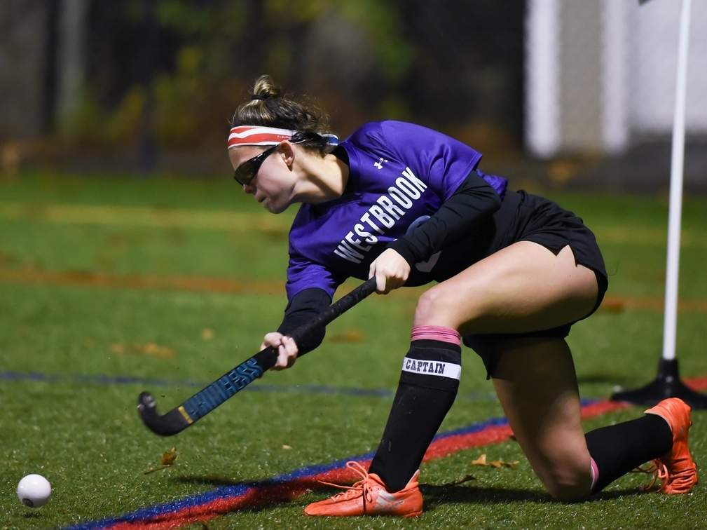 Senior captain Kendall Orlowski scored her first goal of the season on a corner in the Knights' 1-0 victory against Stonington in the state quarterfinals on Nov. 14. File photo by Kelley Fryer/Harbor News