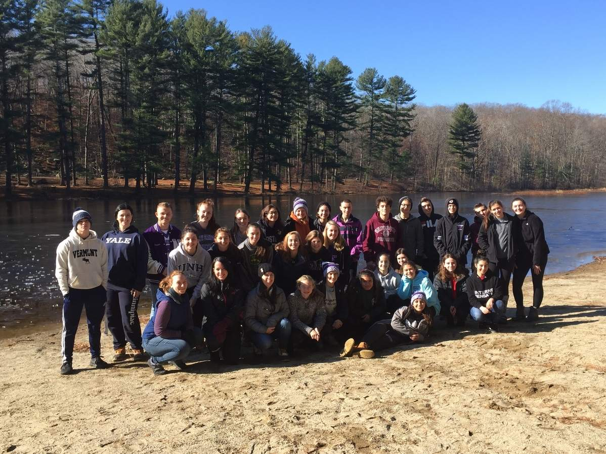 Chatfield Hollow state park's fresh water lakes in Killingworth provided resources for experiments in the field undertaken recently by North Branford High School in AP Biology and AP Environmental Science classes.  Photo Courtesy NBHS
