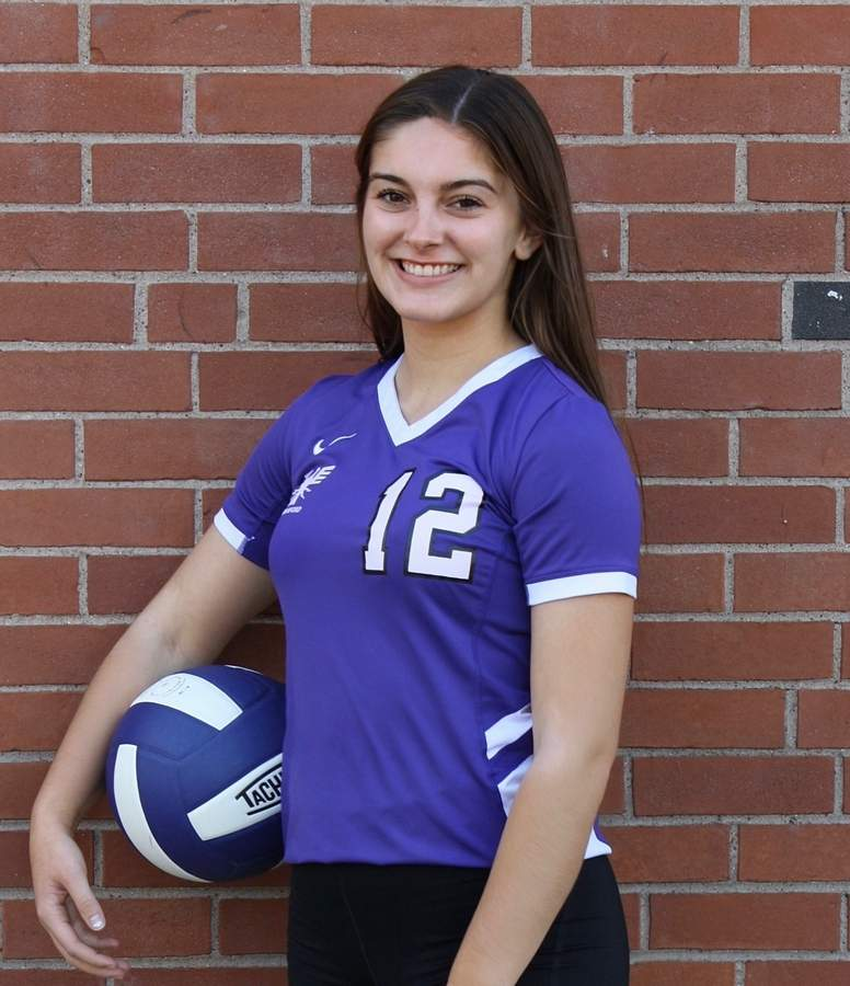 Emily Cole turned in a fine senior season with the North Branford volleyball squad. Emily finished the year with 126 assists to garner All-Shoreline Conference Honorable Mention on behalf of the T-Birds. Photo courtesy of Emily Cole
