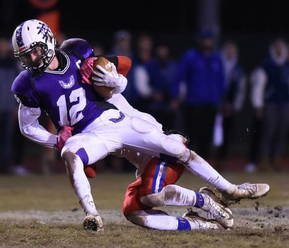 Senior Nate Raymond and the North Branford football squad had a turnaround campaign by posting a record of 7-3 after going 2-8 a year ago. Photo by Kelley Fryer/The Sound