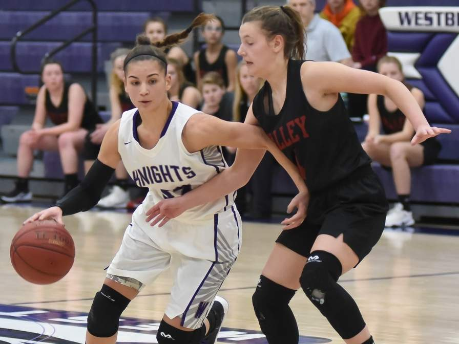 Senior captain Savannah Marshall finished her stellar career with the Westbrook girls' basketball team as the No. 4 scorer in program history with 1,421 points to her credit. File photo by Kelley Fryer/Harbor News