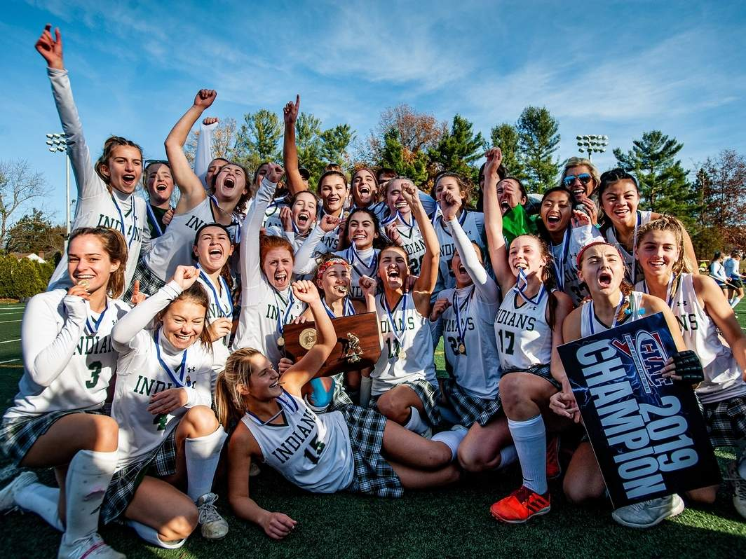 The Guilford field hockey team took home SCC and Class M state titles for the second year in a row on its way to going 23-0 this fall. File photo by Susan Lambert/The Courier