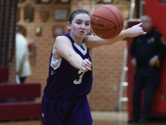 Junior guard Erica Piercey scored a career-high 13 points in North Branford's loss to Coginchaug last week. The T-Birds are 2-2 on the year. File photo by Kelley Fryer/The Sound