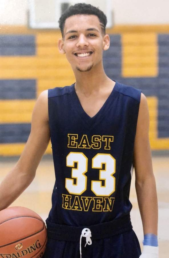 Shane Franklin is bringing a contagious work ethic to the floor as a senior captain for the East Haven boys' basketball team this season. Photo courtesy of Shane Franklin