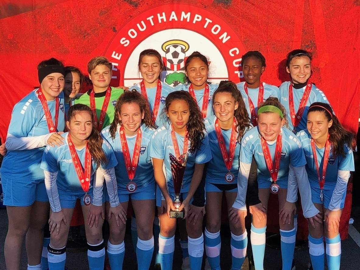 The Connecticut Rush Select girls' soccer program saw its 2005 team claim the championship at The Southampton Cup in Baltimore. Photo courtesy of Kathleen Gambardella
