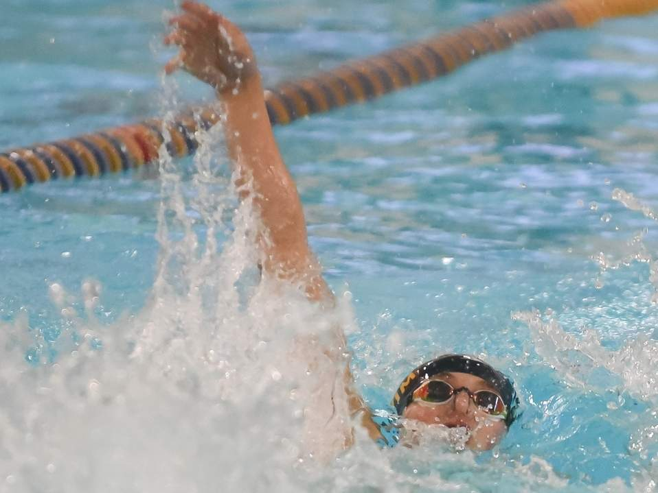 Kyle Mazziotti and the Haddam-Killingworth/Morgan/Valley Regional boys' swimming and diving team recorded a 91-75 win against Granby on Jan. 10. File photo by Kelley Fryer/The Source