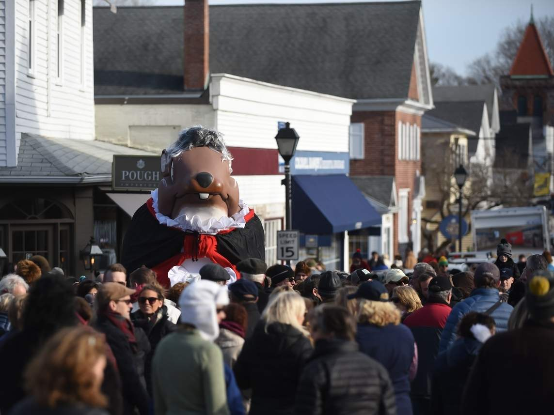 The sun was shining in 2019 when Essex Ed made his appearance as Beethoven. This year's parade is on Sunday, Jan. 26 at 2 p.m. File photo by Kelley Fryer/The Courier