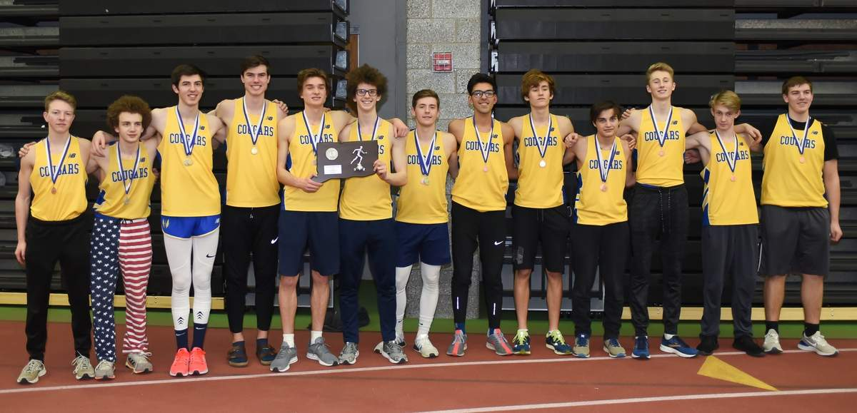 Haddam-Kilingworth claimed second at the CIAC Class S Indoor Track and Field  Championship Meet at Floyd Little Athletic Center. Photo by Kelley Fryer/The Source