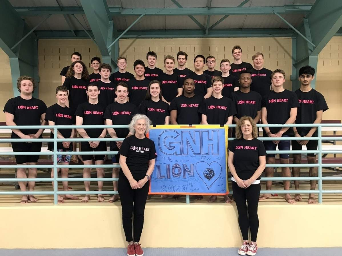 The Greater New Haven Warriors co-op swim squad held a Lap-a-Thon/Dive-a-Thon to raise money for the Lion Heart Foundation on Feb. 18. Photo courtesy of Maddie Bergin