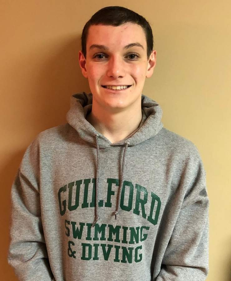 Guilford junior Dan Kamen is one of the athletes leading the charge for the Greater New Haven Warriors this winter. Dan is serving as a captain for the Warriors, who recently clinched their division title and now look forward to SCCs and states.  Photo courtesy of Dan Kamen