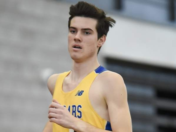Junior Matt Jennings won three events at the Shoreline Conference Championship to help the Haddam-Killingworth boys' indoor track team claim the league crown for the second year in a row this winter. Jennings capped off his season by taking third place in the 1,000-meter run at the New England Championship. File photo by Kelley Fryer/The Source
