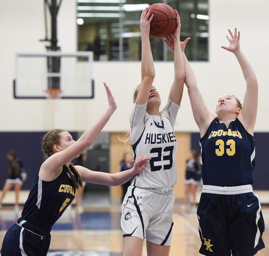 Senior captain Leah McComiskey garnered Morgan's Most Outstanding Offensive Player Award for her stellar campaign that saw her average 8.2 points, 9.8 rebounds, 5.2 blocks, 2.3 assists, and 2.1 steals per contest. Photo by Kelley Fryer/Harbor News