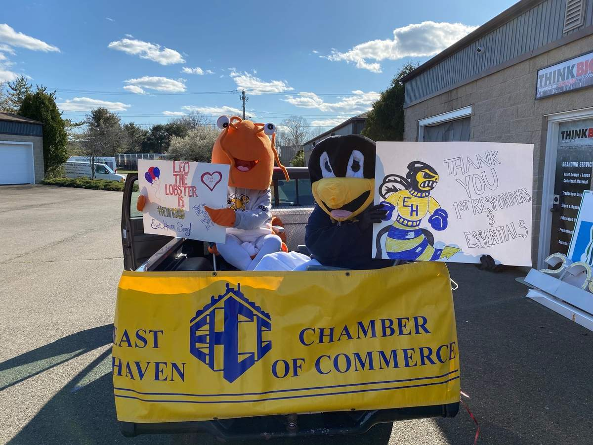 The East Haven Chamber of Commerce participated in the East haven Proud Parade on April 11. Photo by Jennifer Higham Photography