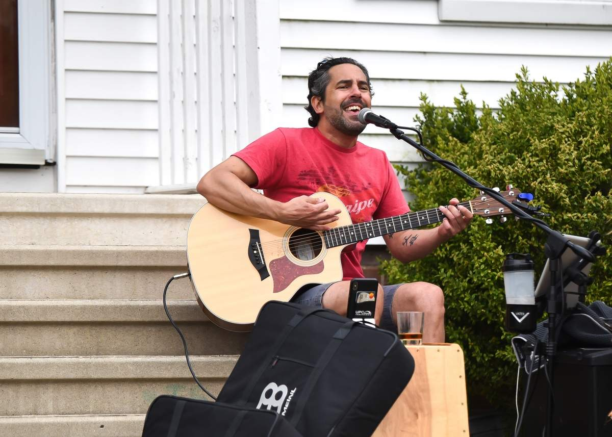 Joe LaDore created the Virtual Concert Series supporting Local Businesses Facebook page to not only entertain people during social distancing but support restaurants and other small shops during this time. Photo by Kelley Fryer/The Courier