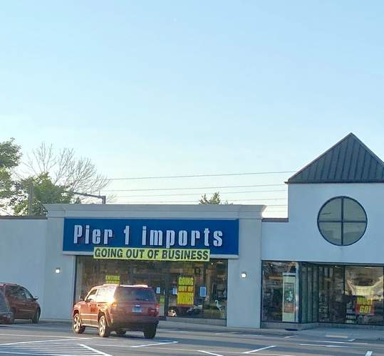 Pier 1 Imports in Branford, located at 1078 West Main St., is going out of business as part of a nation-wide decision by the parent company to close all 540 U.S. stores.  Pam Johnson/The Sound