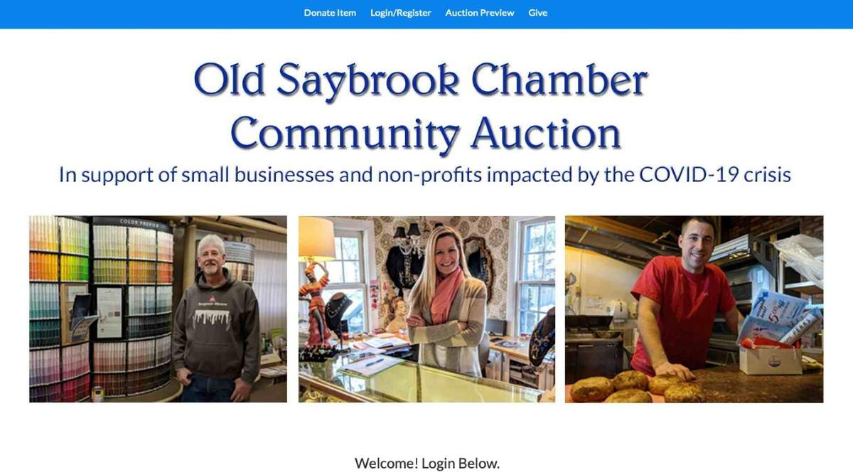 Visit www.oldsaybrookchamber.com for a listing of auction items. Image from the Old Saybrook Chamber of Commerce