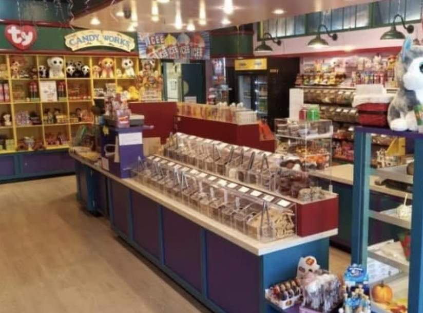 Candy Works at the Clinton Crossing Premium Outlets is offering red, white, and blue goodies, just in time for Fourth of July picnics. Photo courtesy of Candy Works