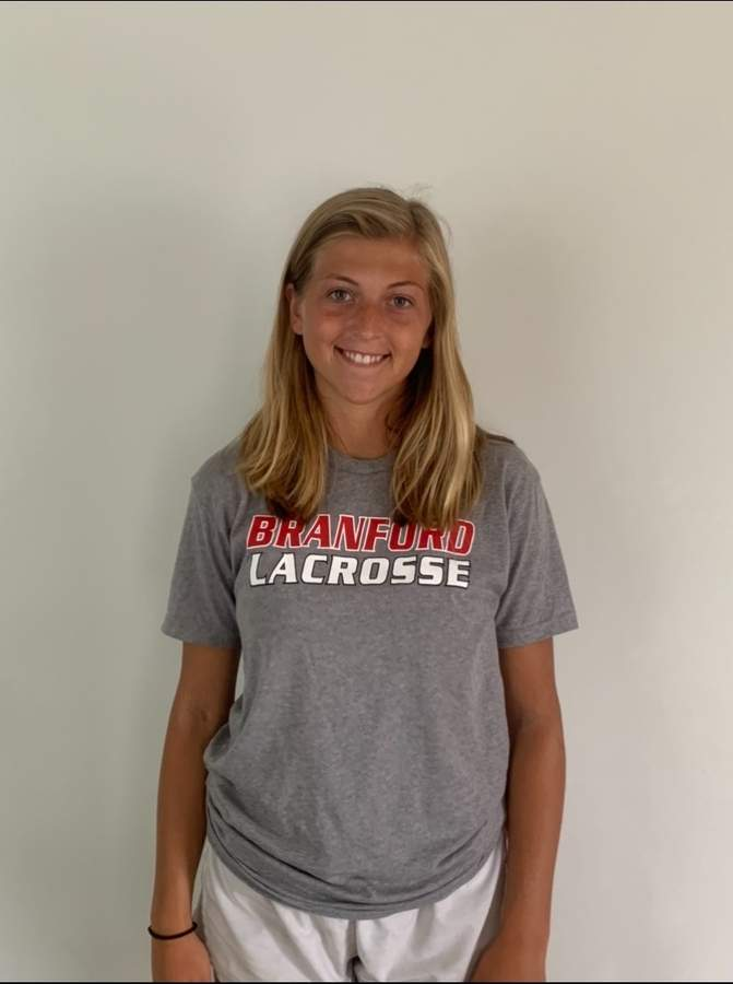 Brianna Shaw served as a senior captain for the Branford field hockey team last fall and was slated to hold that same position with the girls' lacrosse team this spring. Brianna scored 106 goals and was part of consecutive Class M state titles during her lacrosse career.   Photo courtesy of Brianna Shaw