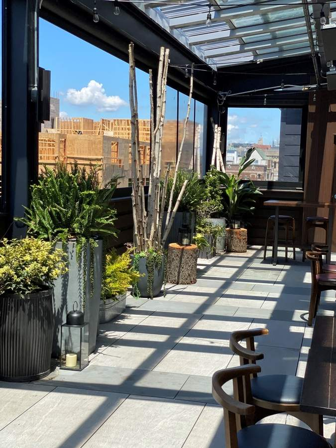 High George offers outdoor dining on the rooftop. Photo courtesy of High George
