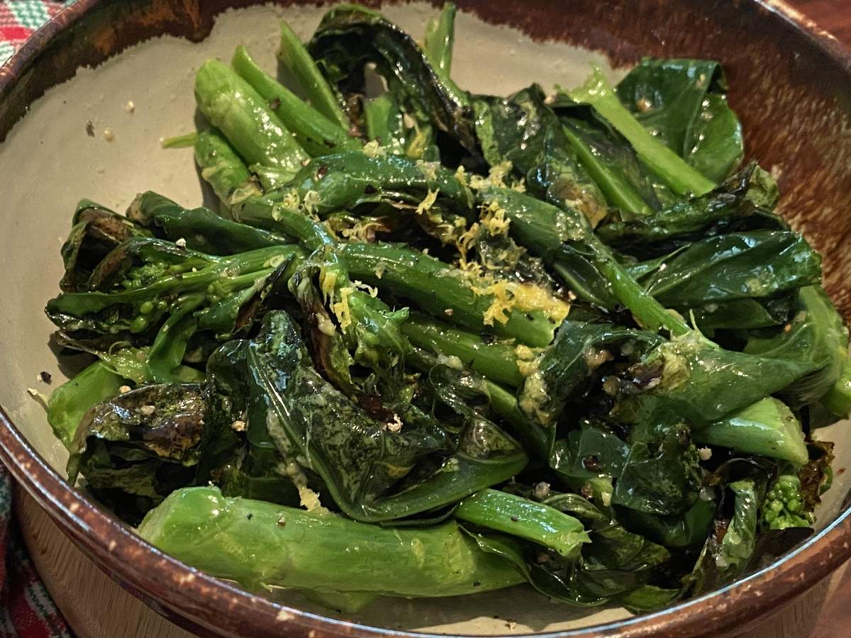 Chinese broccoli is great for breakfast with a hard boiled egg, or for lunch or dinner with some roasted chicken.  Photo by Pem McNerney/The Source
