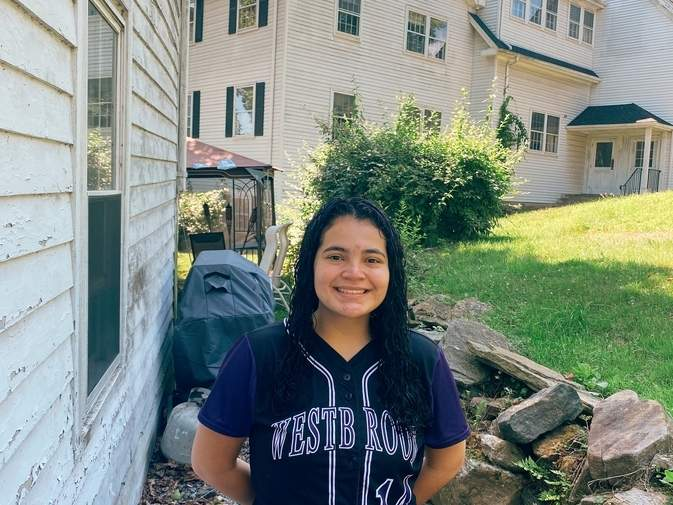 Melissa Solis made huge strides with the Westbrook softball squad, working hard to become reliable fielder and a productive bat for the Knights.  Photo courtesy of Melissa Solis