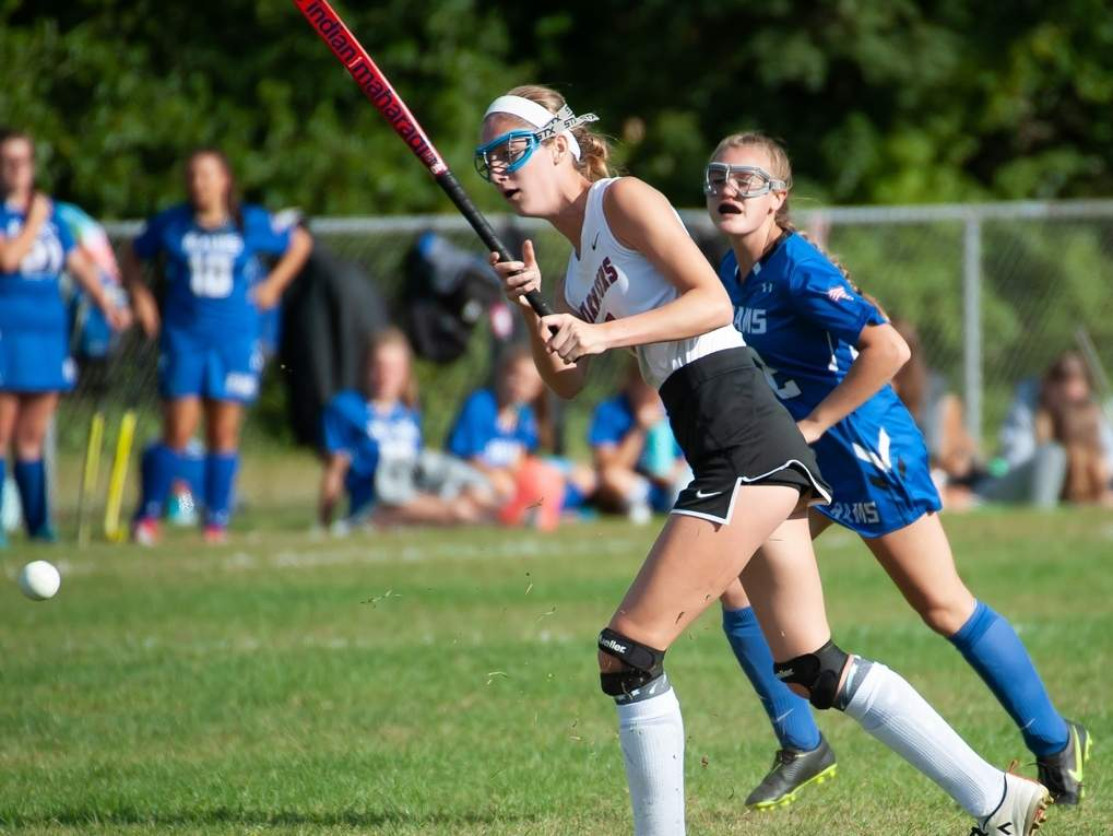 Senior defender Taylor Harpin hopes to be supporting a staunch, new-look Valley Regional field hockey defense this coming season. Harpin played some solid varsity minutes for the Warriors in 2019. File photo by Kelley Fryer/The Courier