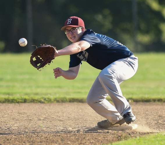 Ryan Anderson and the Branford U-17 baseball team claimed an 8-6 victory against Wallingford on July 27. File photo by Kelley Fryer/The Sound