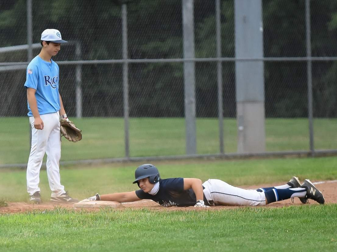 Ryan Inglis and the Clinton Huskies played four games last week and ended up with a tie and three losses. On July 28, Inglis had a big pinch hit for an RBI to tie the game versus the Rage. File photo by Kelley Fryer/Harbor News