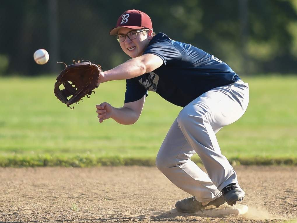 Ryan Anderson and the Branford U-17 baseball team earned a win versus Hamden during the final week of their season. File photo by Kelley Fryer/The Sound