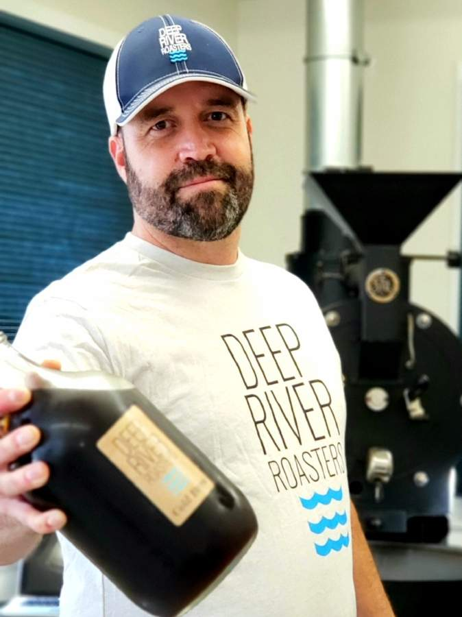 After growing disenchanted with the corporate grind, Matt Resnisky went all-in on a former hobby: coffee roasting. His Deep River Roasters has been a full-time endeavor for two years. Photo courtesy of Matt Resnisky