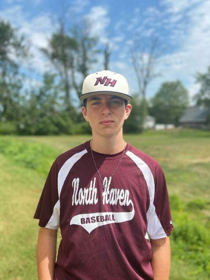 Derek Novicki proved a valuable member of North Haven's U-19 CEBA team by playing first base, pitcher, and the outfield this summer. Photo courtesy of Derek Novicki